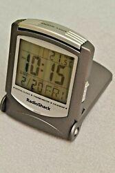 Vintage Radio Shack LCD Travel Digital Alarm Clock Thermometer Calendar 63-1436