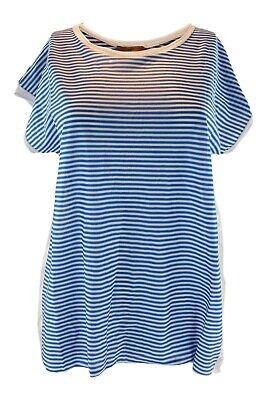 JEJIA Cotton and Vicose Blend Blue Striped Clown Shirt (IT 42)