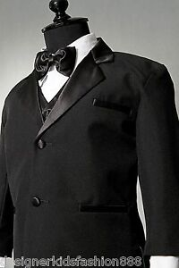 BOY-TUXEDO-BLACK-FORMAL-SUIT-BRAND-NEW-WITH-VEST-AND-BOW-TIE-ALL-SIZE