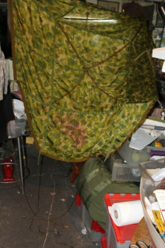 """Original Camo. Parachute 53""""X53""""rough size GREAT for DISPLAYS to cool to last"""