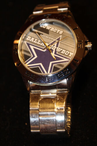 Cowboys Custom Fashion Stainless Steel Band Quartz Sport Analog Wrist Watch New