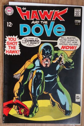 DC The Hawk and the Dove #5 (May, 1969) Silver age Comic