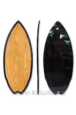 "51.5"" Epoxy EPS Skimboard Medium Swallow Tail Wood Carbon Skim Surf"