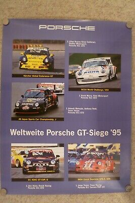 1995 Porsche 911 GT Supercup Showroom Advertising Sales Poster RARE!!