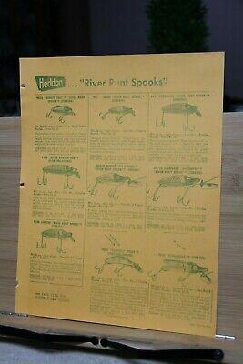 Advertisement Dealer Vintage Fishing Tackle Catalog PAGE 29/30 Heddon River Runt