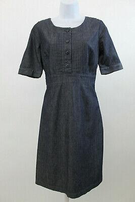 Pintuck Kleid (Boden 3/4 Knöpfe Denim Pintuck Kleid Gr. UK 8 #523)