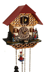 cuckoo clock black forest quartz german music house style new traditional