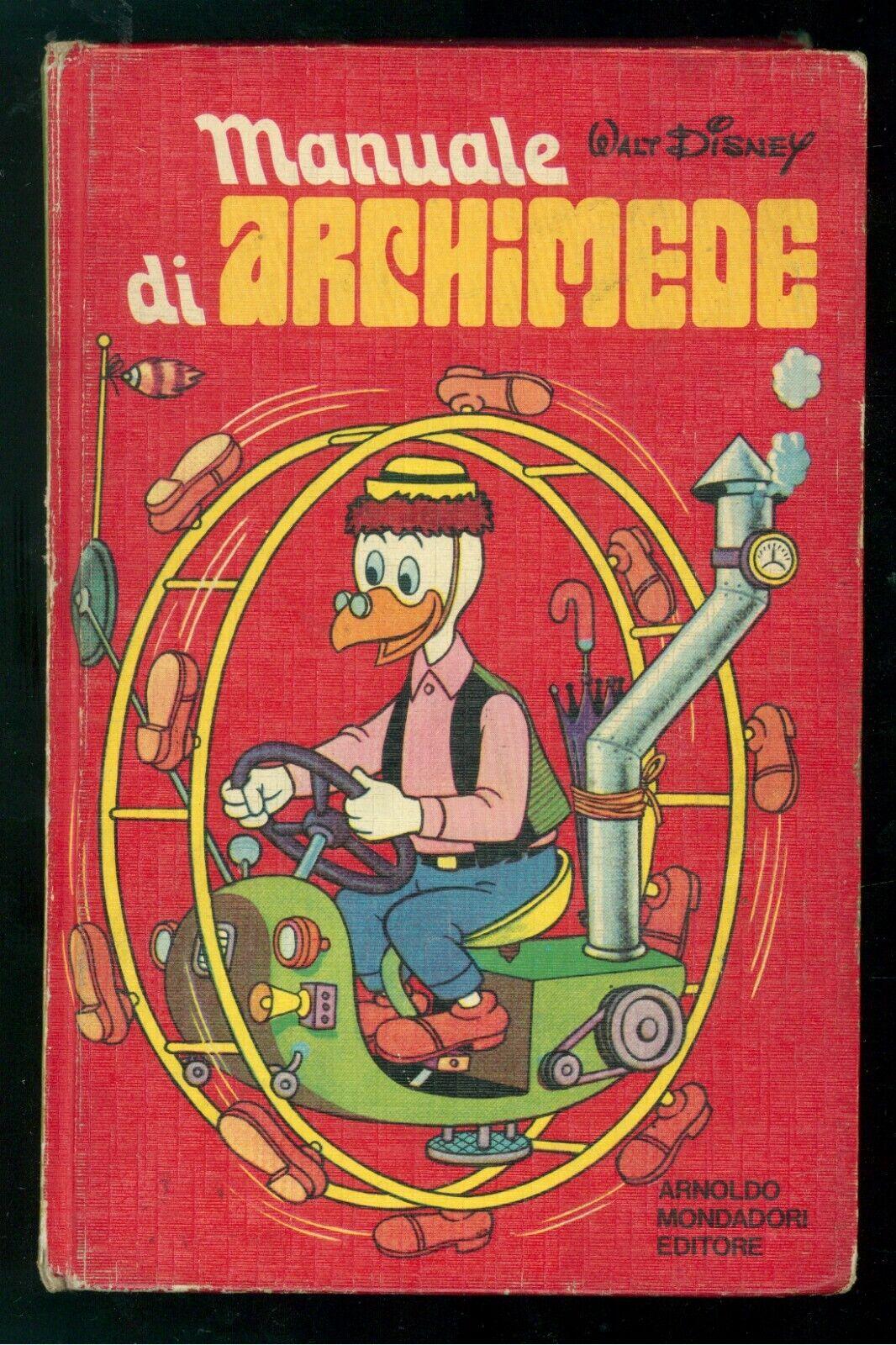 WALT DISNEY MANUALE DI ARCHIMEDE MONDADORI 1976 TERZA EDIZIONE BAMBINI INFANZIA