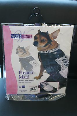 NEW SIZE XS EXTRA SMALL DOG DOGGY FRENCH MAID HALLOWEEN COSTUME OUTFIT NIP CUTE~