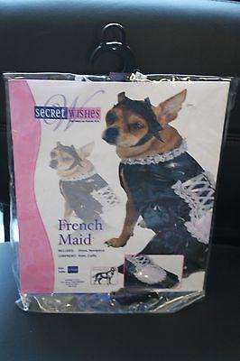NEW SIZE MEDIUM M DOG DOGGY FRENCH MAID HALLOWEEN COSTUME OUTFIT NIP - Cute Doggy Kostüm