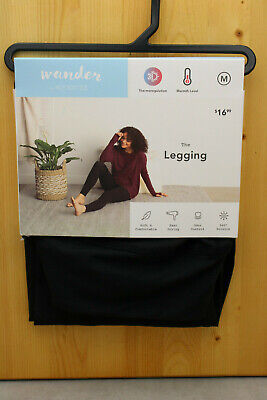Ladies' Leggings Wander Hottotties Black NEW Sz Med NWT