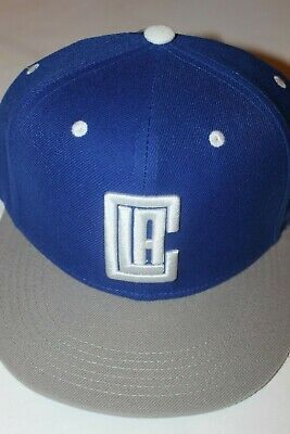 Los Angeles Clippers Snapback Hat Cap Blue with Grey Brim