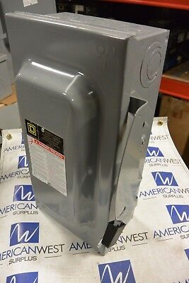 Square D D223n 2p 240v 100 Amp Fusible Disconnect - Used