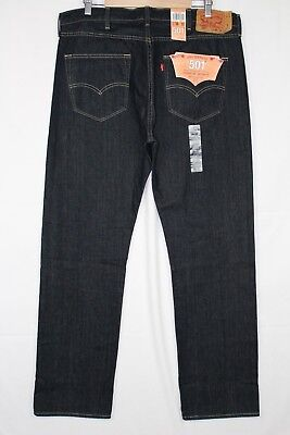 New Levi's 501 Straight Leg Button Fly Size 38 x 32 Clean Rigid Wash # 005010536