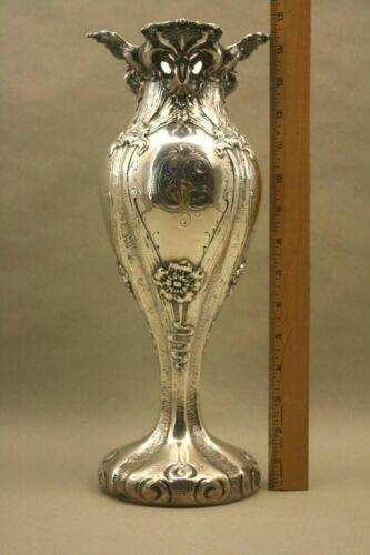Antique Lg Sterling Silver  Art Nouveau Shiebler Aesthetis Movement Flower Vase