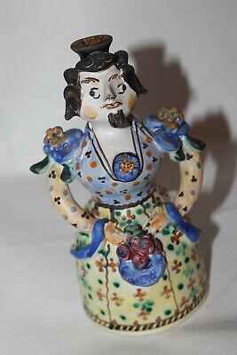 Volkskunst, Keramikflasche in Form einer Frau, bemalt, Handarbeit Grottaglie ()