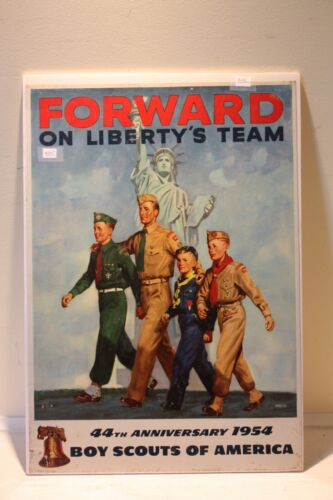 BOY SCOUTS OF AMERICA 44TH ANNIVERSARY 1954 FORWARD ON LIBERTY