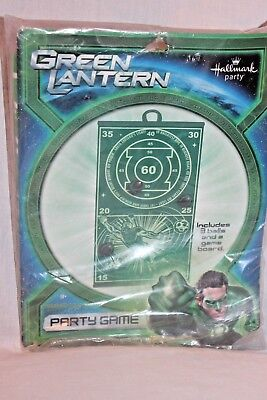 NEW IN PACKAGE THE GREEN LANTERN PARTY GAME PARTY SUPPLIES ](Green Lantern Party Supplies)