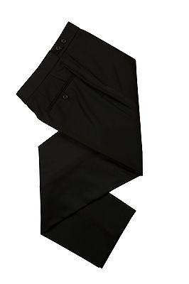 Uomo Nero Nuovo Cravatta Formale Abito da Sposa Smoking Pantaloni Con Raso Band