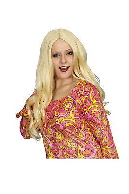 Damen Mädchen Perücke DANI lange Haare blond zB - Mädchen Blonde Hippie Perücke