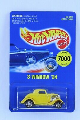 HOT WHEELS EARLY TIMES 3-WINDOW '34 NO ROOF TAMPO ERROR VERY NICE