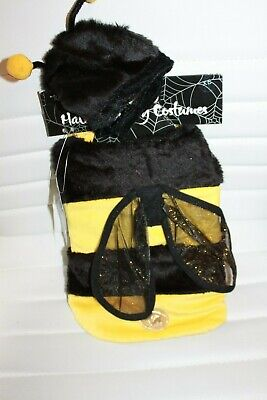 Bumble Bee Dog Halloween Costumes (Boutique Bumble Bee Dog Costume Halloween Dress XS Body Hat Wings MSRP $25)