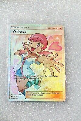 Pokemon Card TCG Trainer Whitney (Full Art) Lost Thunder  214 / Ultra Rare