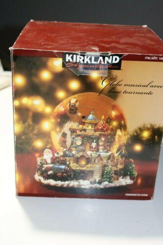 Kirkland Musical Waterglobe with Revolving Base In Box - Santa Train
