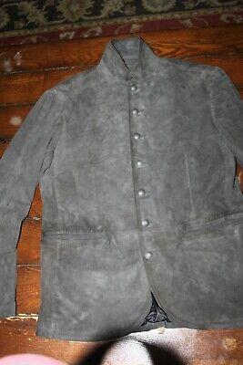 John Varvatos Star U.S.A. Men's Charcoal Suede Shirt Jacket MSRP $798