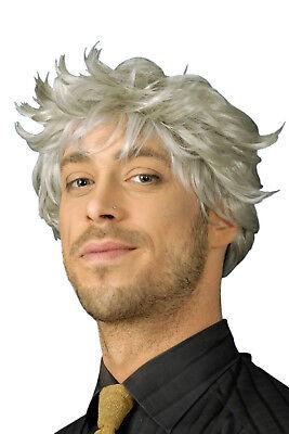 Herren Perücke KAI grau zB zu Kostüm Opa Großvater Kurzhaar Fasching - Graue Haare Kostüm Perücke