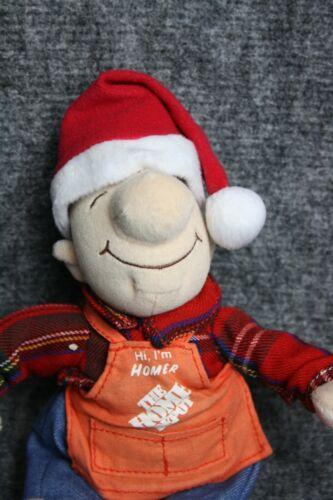 Home Depot Plush Santa Homer