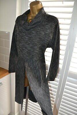 ~ SAHARA ~ Gorgeous Grey Jumper Tunic Top Size 18 20 Lagenlook Dress Sweater