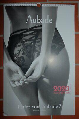 AUBADE erotischer Dessous Unterwäsche Kalender erotic 2020 s/w NEU