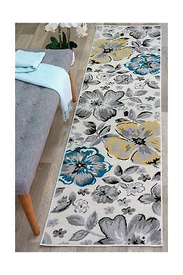 modern floral runner rug 2 x 7