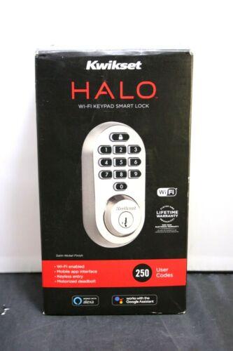 Kwikset 99380-001 Halo Wi-Fi Smart Lock Keyless Entry Electronic Keypad Deadbolt