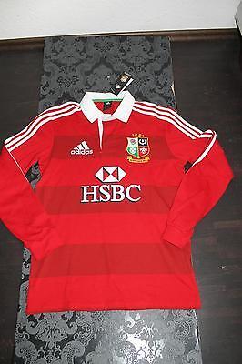 Adidas Australien Australia Rugby langarm Polo Shirt Rot Größe S Neu mit Etikett ()