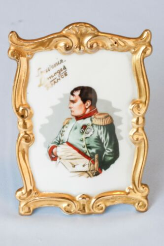 Vintage Limoges Porcelain Portrait French Emperor Napoleon Bonaparte Waterloo