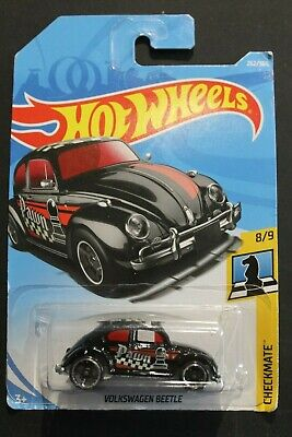 HOT WHEELS - LONG CARD - 'CHECKMATE' - VOLKSWAGEN BEETLE - BLACK PAWN - 8/9