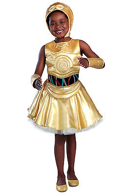 C-3PO PREMIUM Deluxe C3PO Star Wars Costume Dress KIDS 3T 4T 3 4 5 6 7 8 9 10 12 - Child C3po Costume