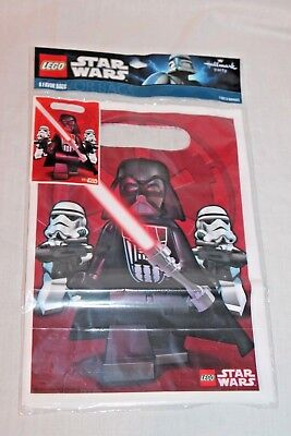 Star Wars Lego Party Supplies (NEW IN PACKAGE STAR WARS LEGO  8- FAVOR BAGS    PARTY)