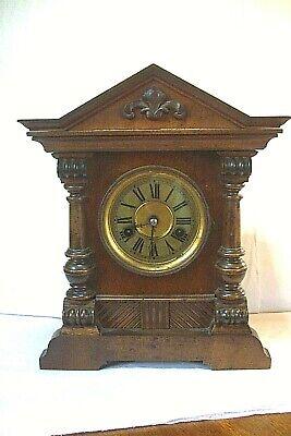 Antique German HAC Wurttrmberg Crossed Arrows -14 Days Strike  -  Mantel Clock