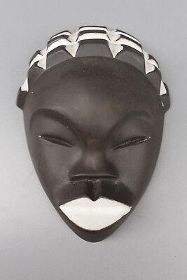 JAAP RAVELLI HOLLAND KERAMIK Wandmaske 50ER Wall mask DUTCH ART STUDIO POTTERY online kaufen