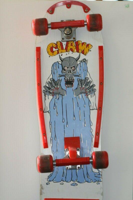 "Vintage Rolls Racer ""Claw"" Santa Cruz Variflex Skateboard - Very Nice!"