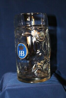 HB Hofbrauhaus Munchen Dimpled Hofbrau German Beer Glass 0.5l Stein Mug
