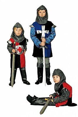 Kinder Kostüm Ritter Musketier rot o blau schwarz Ritterkostüm Karneval (Kind Schwarze Ritter Kostüme)