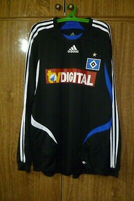 Hamburger SV Adidas Longsleeve Football Shirt Away 2007/2008 Soccer Men Size L image