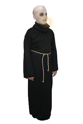 Childs Uncle Fester Adams Family Fancy Dress Halloween Robe BALD WIG & Facepaint](Uncle Fester Robe)