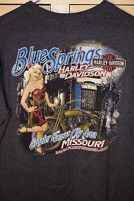 Harley-Davidson Motorcycles T-shirt Size Large -BlueSprings, Missouri