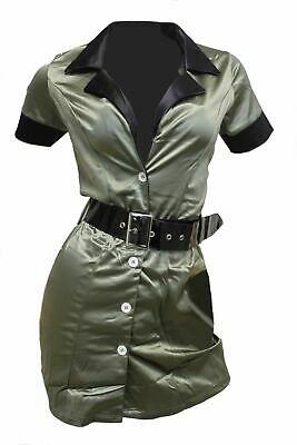 Fantasy Cosplay Army Green Dress Up Army Girl Combat Booty Camp Costume ](Army Dress Up Costume)