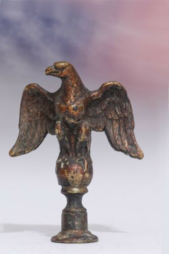 Vintage Solid Brass/Bronze Eagle Finials set of 2